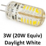 12V G4 3W (20W Equiv) 48 LED Light Bulb in Daylight White