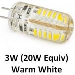 12V G4 3W (20W Equiv) 48 LED Light Bulb in Warm White