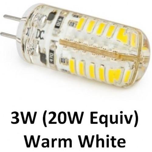 g4 12v 3w 20w equiv 48 led light bulb in warm white. Black Bedroom Furniture Sets. Home Design Ideas