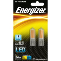 (Twin Pack) 2W G9 (20W Equiv) LED Capsule Light Bulb Daylight White