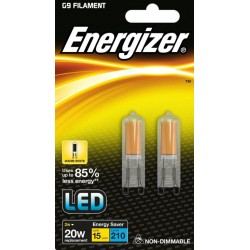 Twin Pack | 2W G9 (20W Equiv) LED Capsule Light Bulb Warm White