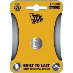 CR2025 3V Button Battery by JCB - (Lithium Coin Cell)