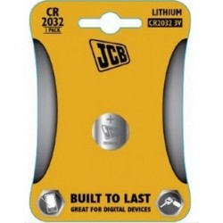 CR2032 3V Button Battery by JCB - (Lithium Coin Cell)