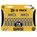 12 x JCB Super Alkaline AA / LR6 Alkaline Battery