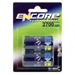 Uniross Encore Power EN0289 C / R14 Size Converters with AA NiMH 2700mAh Pack of 2