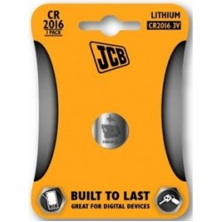 CR2016 3V Button Battery by JCB - (Lithium Coin Cell)