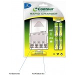 Contour 2 Hour Rapid Charger with 2 x AA & 2 x AAA