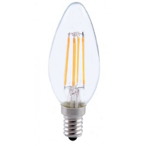 Energizer 4w 40w Filament Led Candle Ses: 4W (40W) LED Filament Candle Small Edison Screw In Warm White