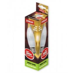 7w (35 Watt) Soft Lite Mega Candle Edison Screw ES / E27 Cap By Eveready