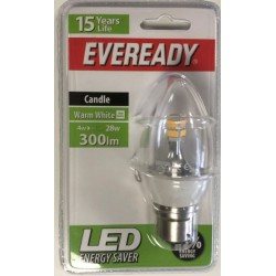 4w (28-30w) LED Candle - Bayonet in Warm White by Eveready