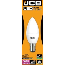 6w (40w) LED Candle - Small Bayonet in Warm White by JCB