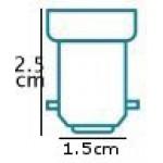 11W Small Bayonet Extra Mini Low Energy Spiral Light Bulb (Warm White)