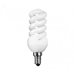 11w Small Edison Screw Extra Mini Low Energy Spiral Light Bulb (Warm White)