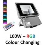 100W LED Floodlight  - IP65 (RGB Colour Changing With Remote)