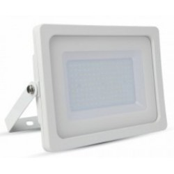 100W Slim Premium LED Floodlight - Daylight White (White Case)