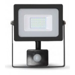 20W Slimline Motion Sensor LED Floodlight - Daylight White 6400K (Black Case)