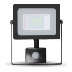 20W Slimline Motion Sensor LED Floodlight - Warm White (Black Case)