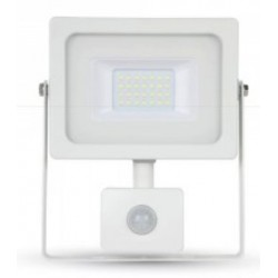 20W Slimline Motion Sensor LED Floodlight - Warm White 3000K (White Case)