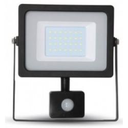 30W Ultra Slimline Motion Sensor LED Floodlight Warm White (Black Case)