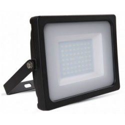 50W Slimline Premium LED Floodlight - Natural White (Black Case)