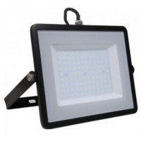 100W Slim Pro LED Security Floodlight Natural Cool White (Black Case)