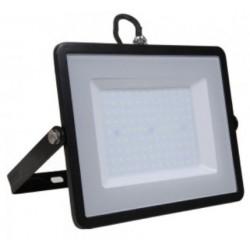 100W Slim Pro LED Security Floodlight Natural Cool White (Black Case)