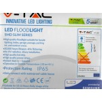 100W Slim Pro LED Security Floodlight Daylight White (White Case)