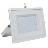 100W Slim Pro LED Security Floodlight Natural Cool White (White Case)