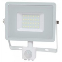 30W Slim Pro Motion Sensor LED Floodlight Warm White (White Case)