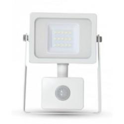 10W Premium LED Motion Sensor Floodlight - Warm White (White Case)