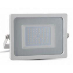 50W Slimline Premium LED Floodlight - Daylight White (White Case)
