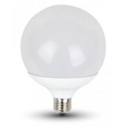 18W (115 Watt) LED Edison Screw Globe Shaped Light  (White Light)