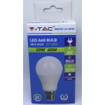 10W (60 Watt) LED GLS Bayonet Light Bulb - Daylight Pure White (6400K)