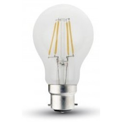 5W (50W) LED Filament GLS Bayonet Light Bulb in Warm White