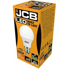 10W (60W) LED GLS Bayonet Light Bulb Cool White JCB