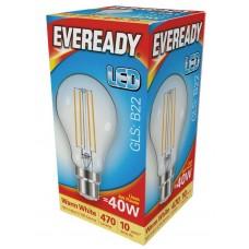 4W (40W) LED GLS Filament Bayonet Light Bulb Warm White