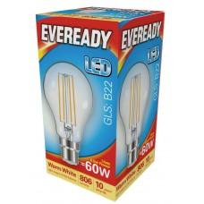 6.5W (60W) LED GLS Filament Bayonet Light Bulb Warm White