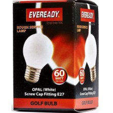 60W Edison Screw / ES Golf Ball Light Bulb Rough Service