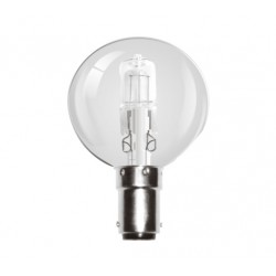 28W (40W Equiv) Small Bayonet Halogen Low Energy Saving Golf Ball Lamp