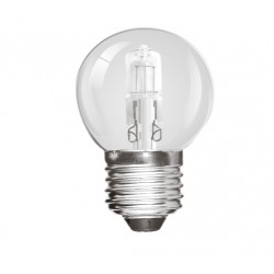 28W (40W Equiv) Edison Screw Halogen Low Energy Saving Golf Ball Lamp