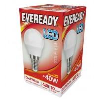 5.2W (40W) LED Golf Ball Small Edison Screw Light Bulb in Cool White