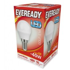 5.2W (40W) LED Golf Ball Small Edison Screw Light Bulb in Cool White