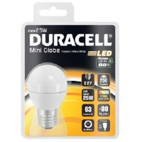 4W (25 Watt) LED Golf Ball Edison Screw in Warm White by Duracell