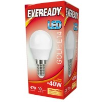 6W (40W) LED Golf Ball Small Edison Screw Light Bulb in Warm White