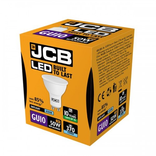 Pack of 5 JCB LED Spot Bulbs 3w or 5w GU10 Warm White Cool White Daylight SMD