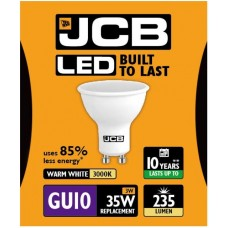 3W = 35W LED GU10 Spotlight Light Bulb in Warm White
