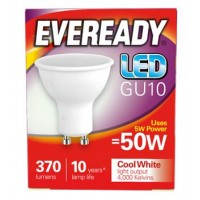 4.2W = 50W LED GU10 Spotlight Light Bulb in Cool White