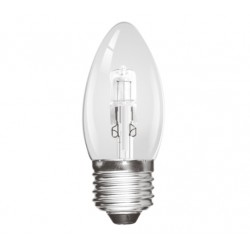 Halogen 28W (40 Watt) Edison Screw / ES / E27 Candle Light Bulb