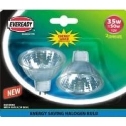 2 Pack - Halogen 35W (50W Equiv) Energy Saver MR16 Lamps / Spotlights
