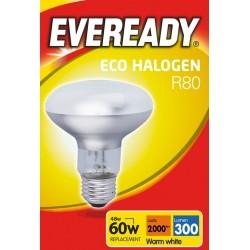 Halogen R80 46W (60 Watt) Edison Screw Reflector Spotlight